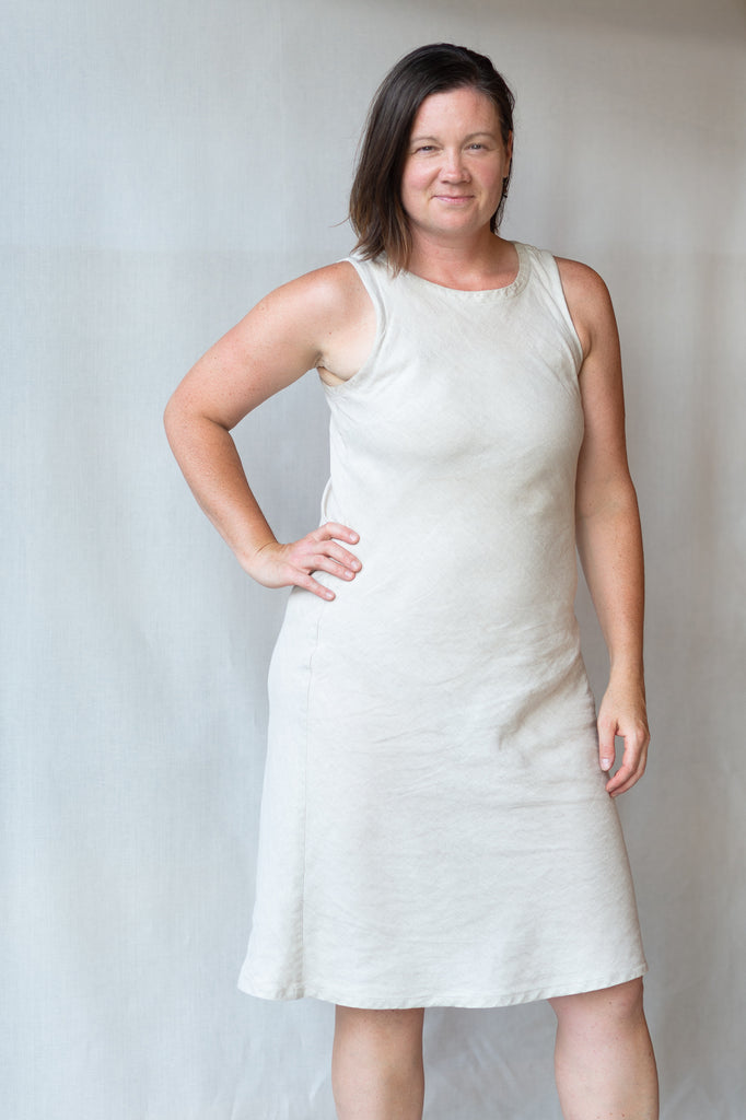 Robe Aurore - Linen Aurora Dress - Maison LenKo