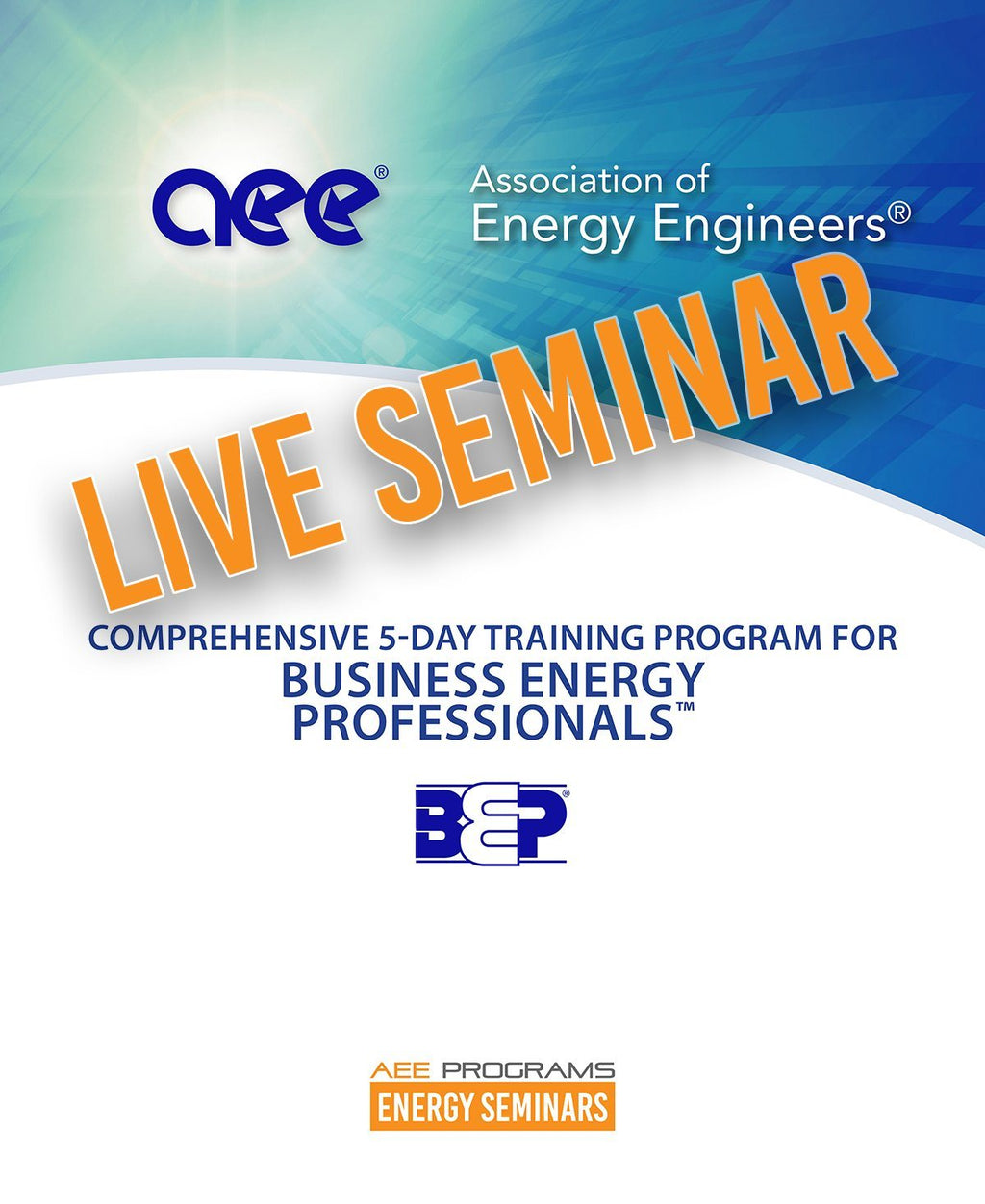 Comprehensive 5-Day Training For Business Energy Professionals™ - AEE Programs