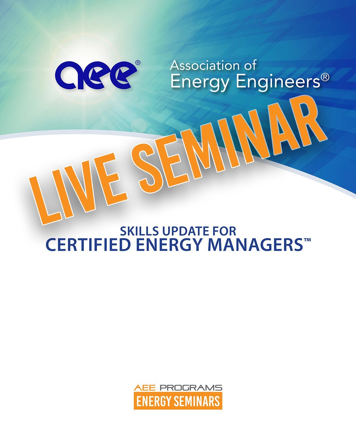 skills update 2019 for certified energy managers aee programs rh aeeprograms com Home Energy Audit Certified Residential Energy Auditor