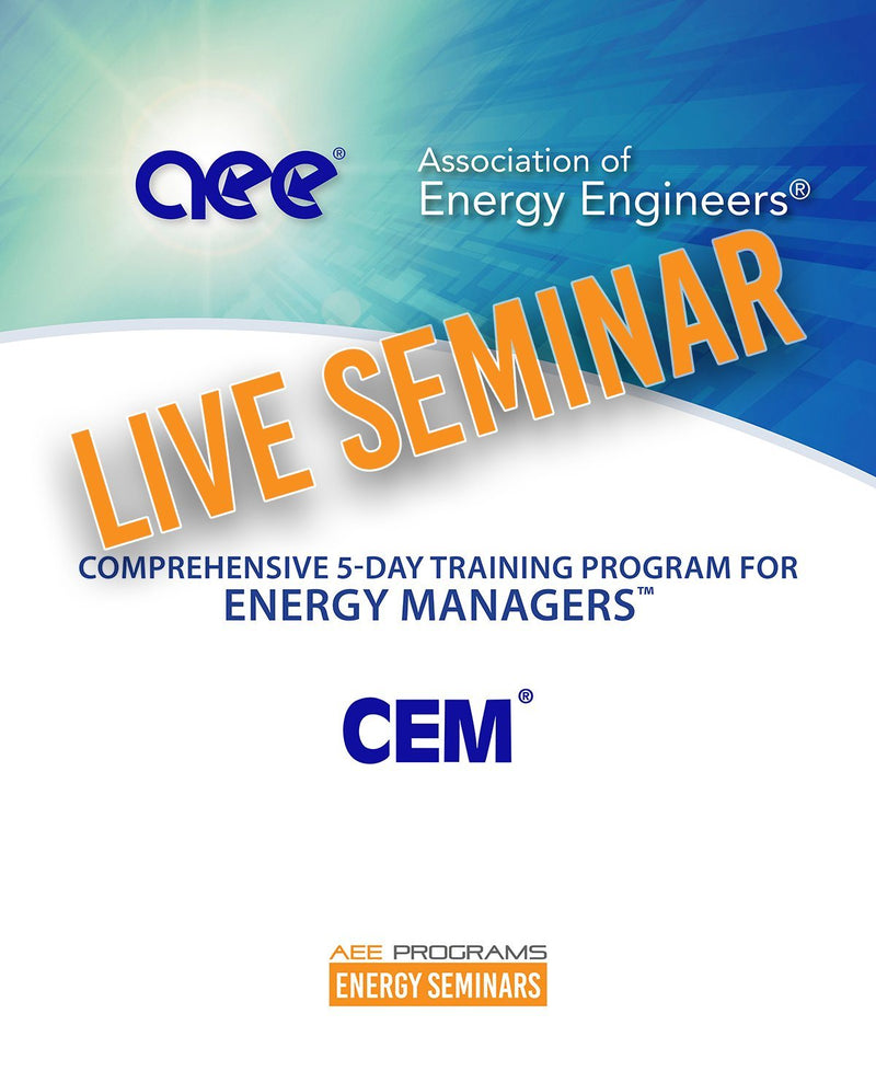 Comprehensive 5-Day Training Program For Energy Managers™ - AEE Programs