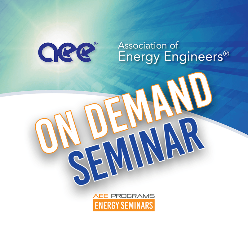 Certified Energy Manager (CEM) Extended Series Preparatory Training - AEE Programs