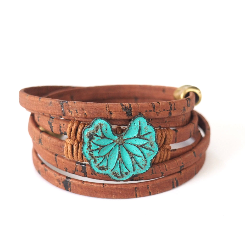 Cork Patina Lotus Whirly