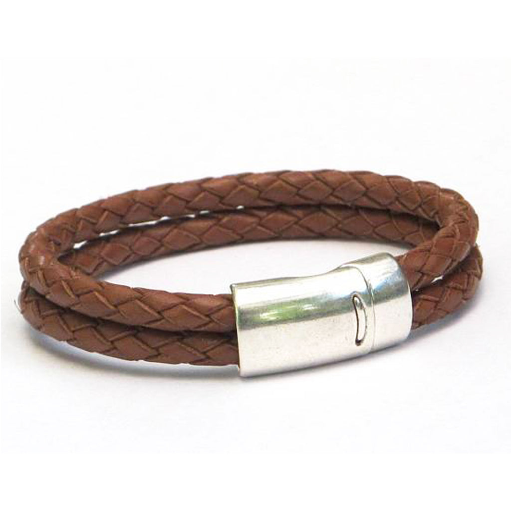 Toffee Braided Leather