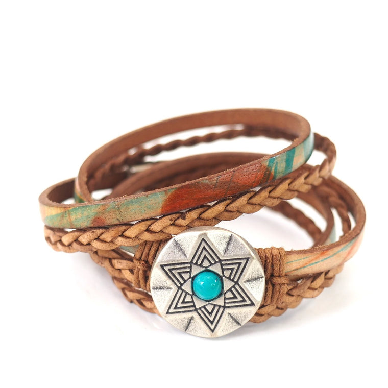 Southwest Turquoise Star - AVERAGE