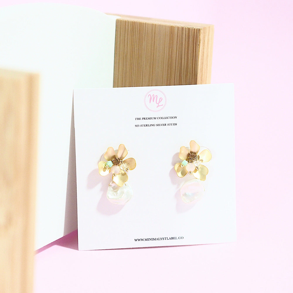 Corymbia Floral Earrings (925 Silver Stud)