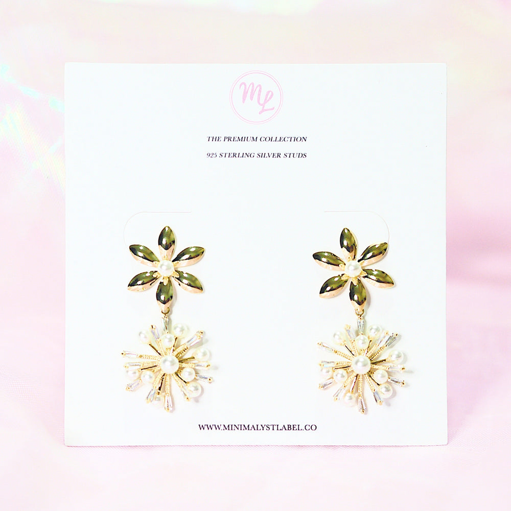 Belladonna Floral Earrings (925 Silver Stud)