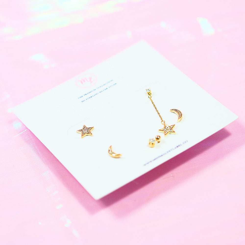 [SET OF 3] Ascella Studded Earrings (925 Silver Stud)