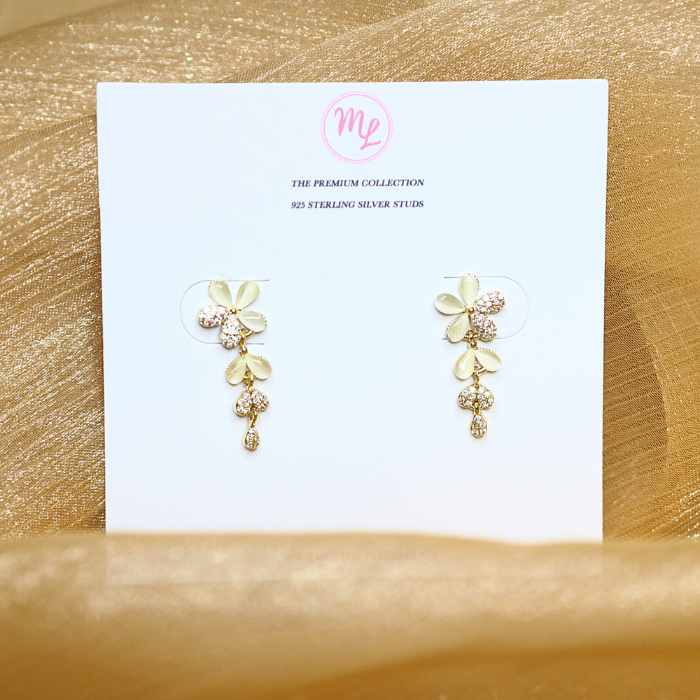 Salley Floral Earrings (925 Silver Stud)