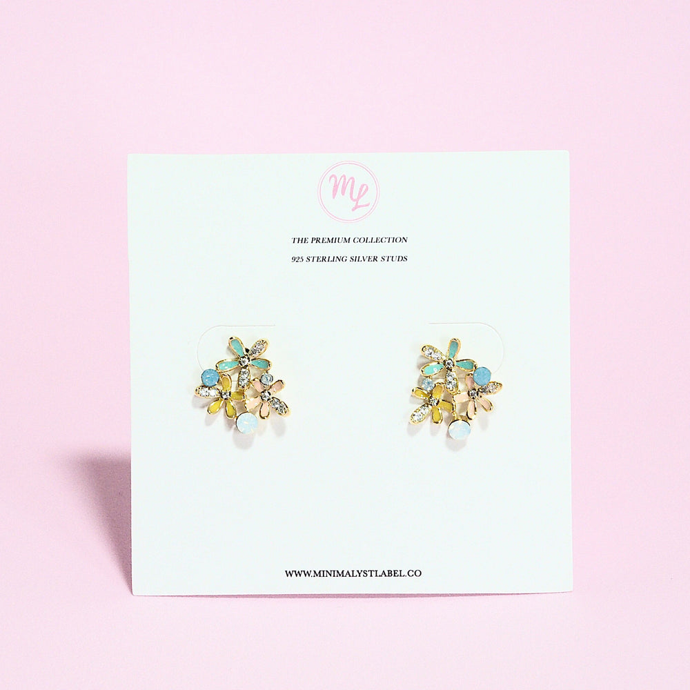 Michelina Floral Studded Earrings (925 Silver Stud)