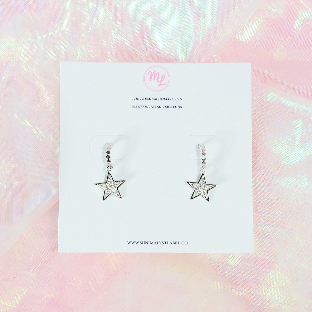 Orion Star Earrings (925 Silver Stud)