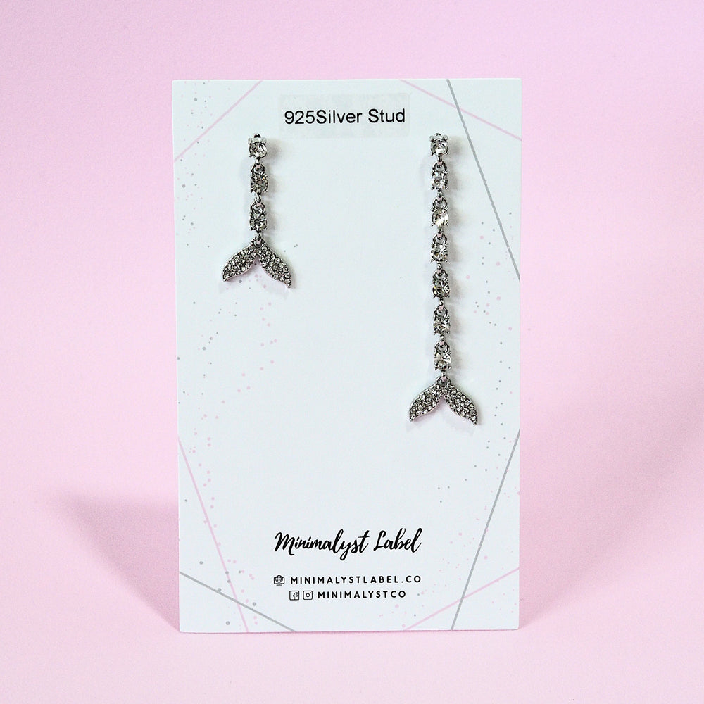 Elisha Mermaid Tail Earrings [Basic] (925 Silver Stud)