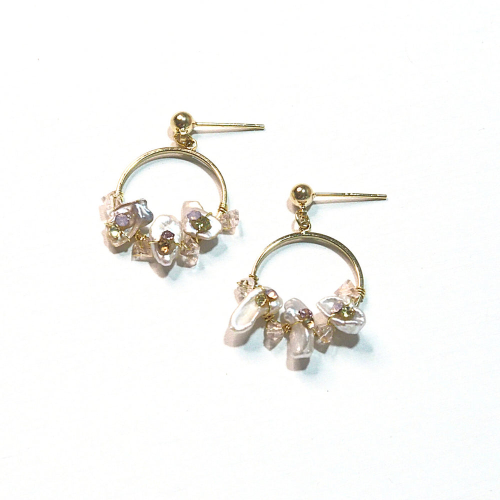 Fae Pearl Earrings (925 Silver Stud)