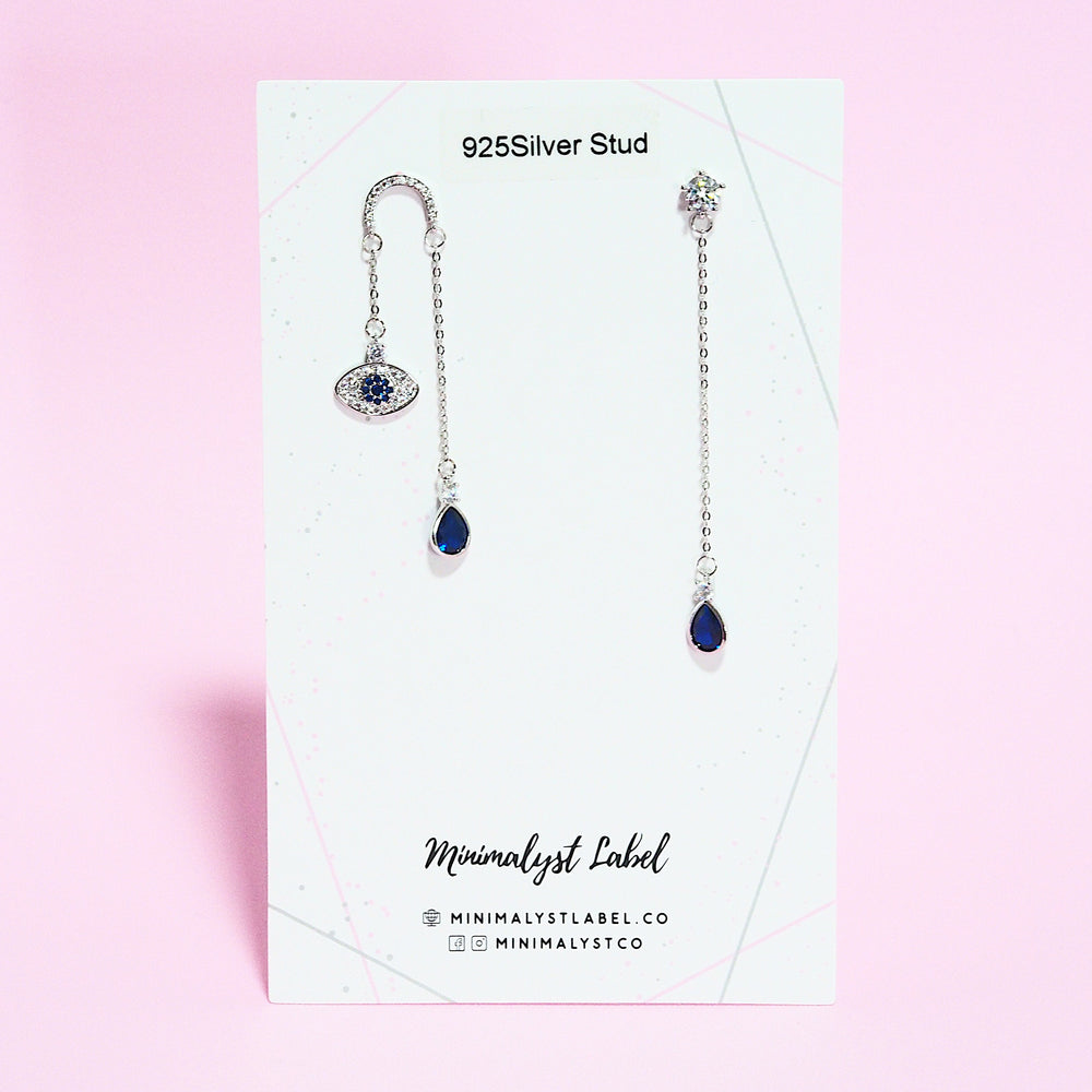 Wilda Eye Earrings (925 Silver Stud)