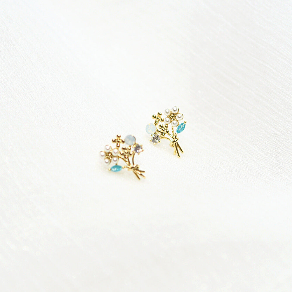 Amoura Bouquet Studded Earrings (925 Silver Stud)