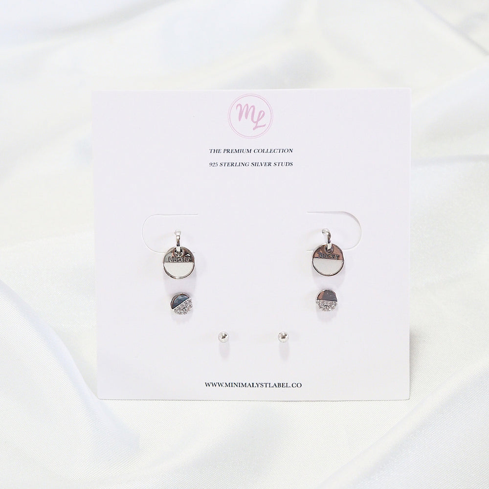 [SET OF 3] The Modi Studded Earrings (925 Silver Stud)