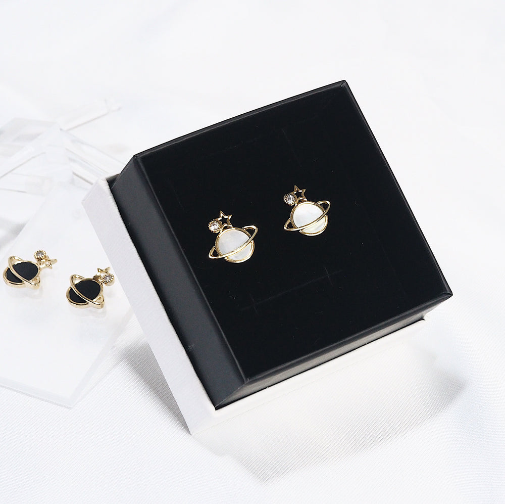 [INDIVIDUAL] Matti Planet Studded Earrings (925 Silver Stud)