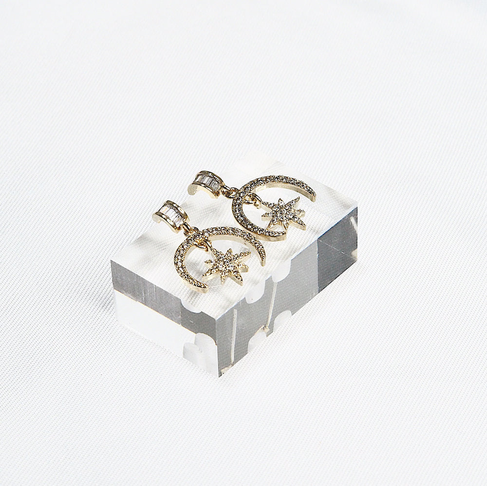 Nanon Bling Earrings (925 Silver Stud)