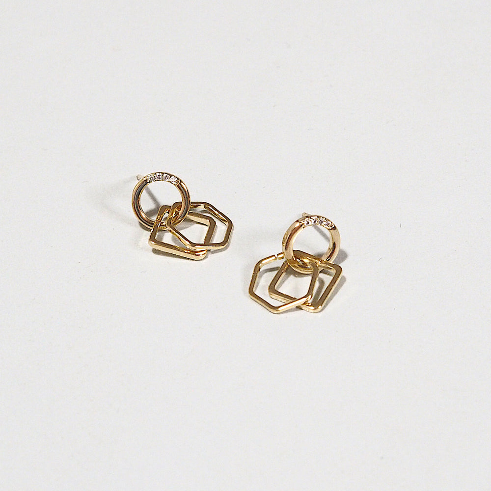 [SET OF 2] Bru Geometric Earrings (925 Silver Stud)