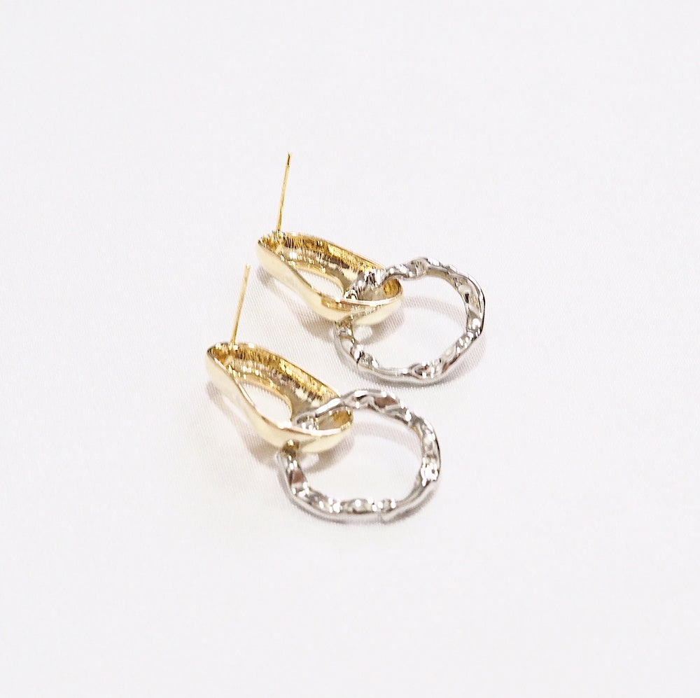 Sirdor Metallic Earrings (925 Silver Stud)