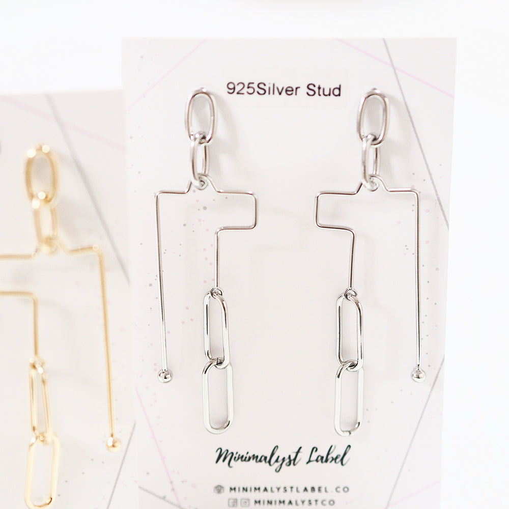 Bancroft Metallic Earrings (925 Silver Stud)