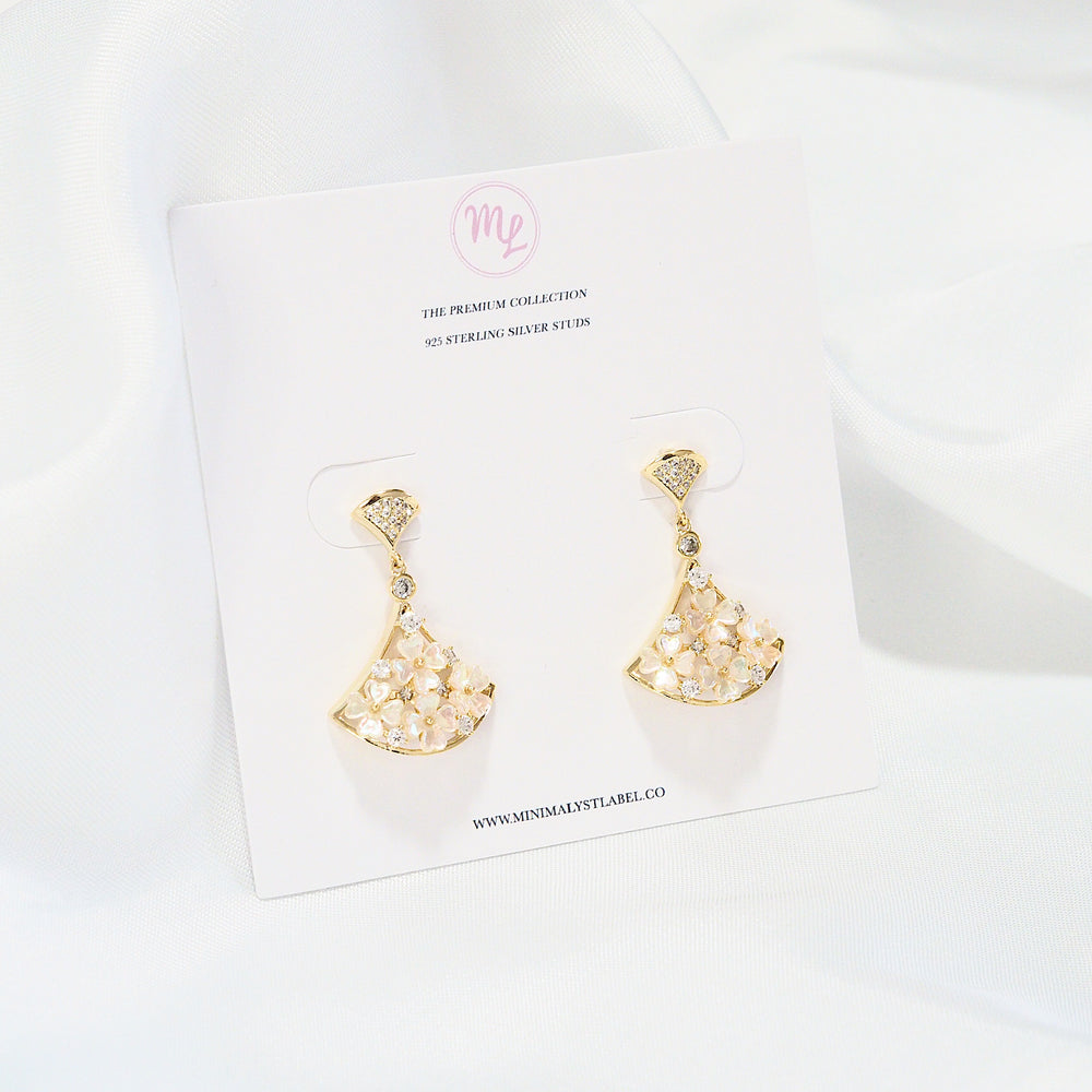 Naomi Floral Earrings (925 Silver Stud)