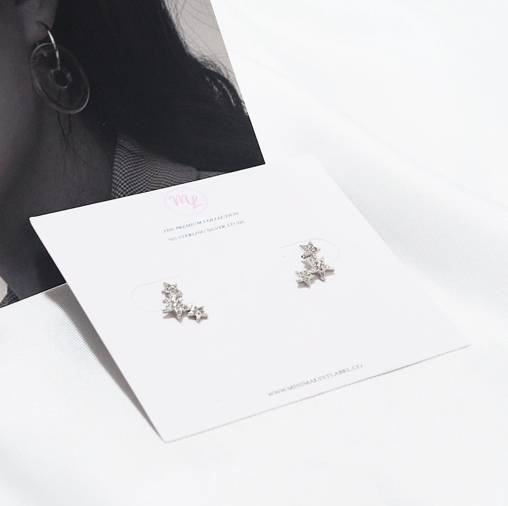 Zevi Star Earrings (925 Silver Stud)