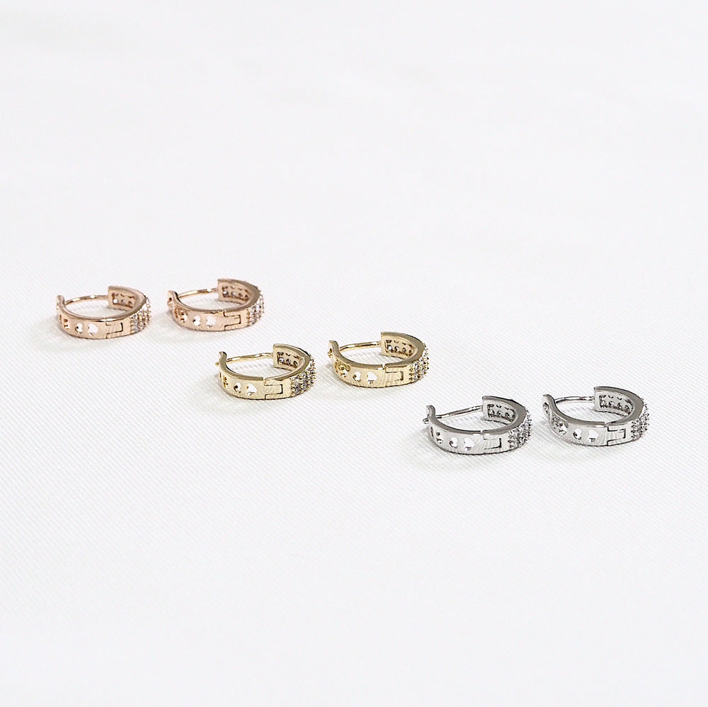 [SET OF 3] The Jod Bling Huggies (925 Silver Stud)