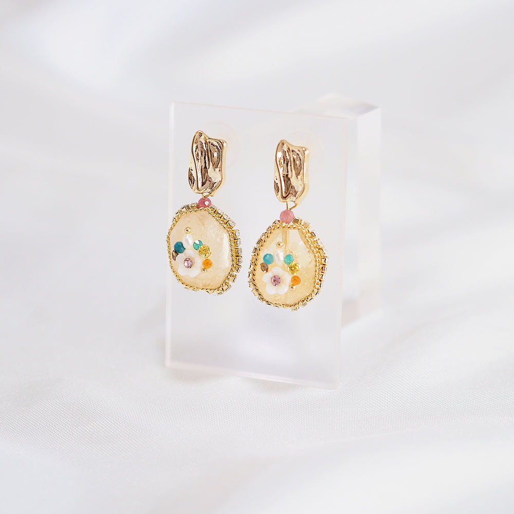 Bellis Jewel Earrings (925 Silver Stud)