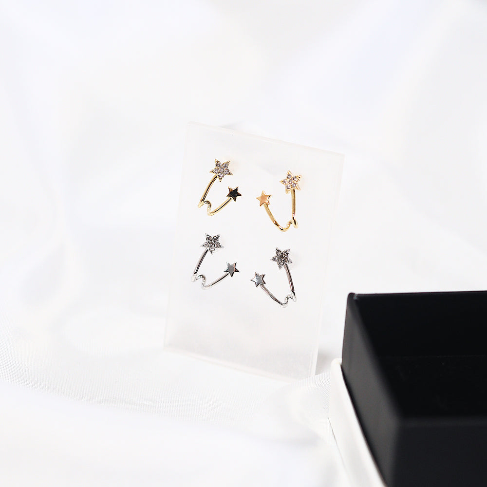 [SET OF 2] Saros Star Earrings (925 Silver Stud)
