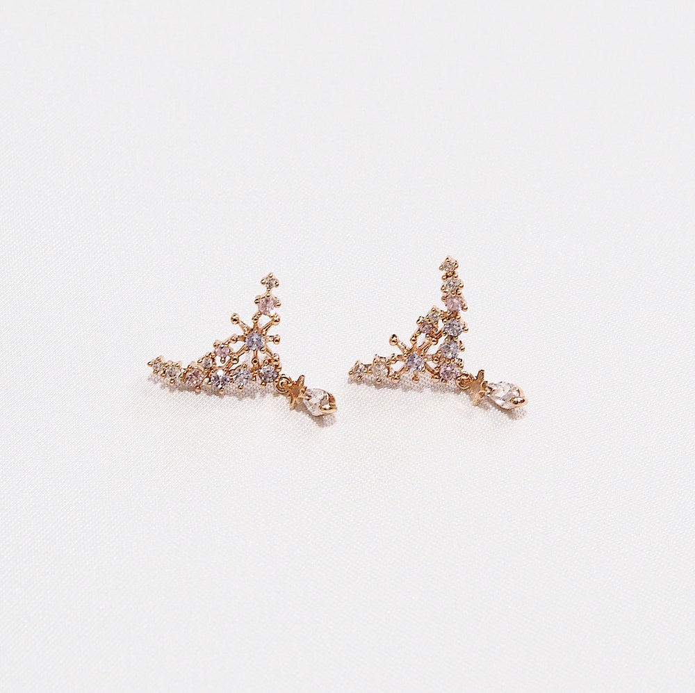 Diana Bling Earrings (925 Silver Stud)