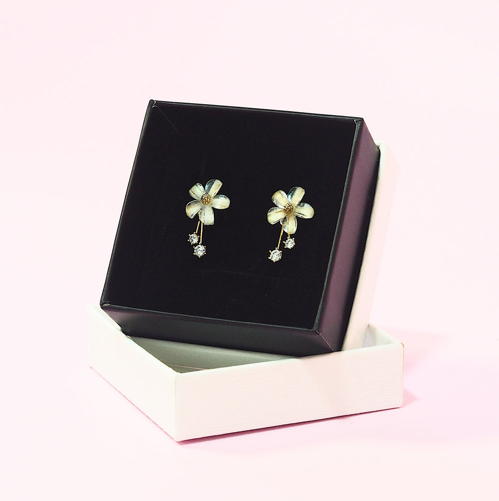 Liana Floral Earrings (925 Silver Stud)