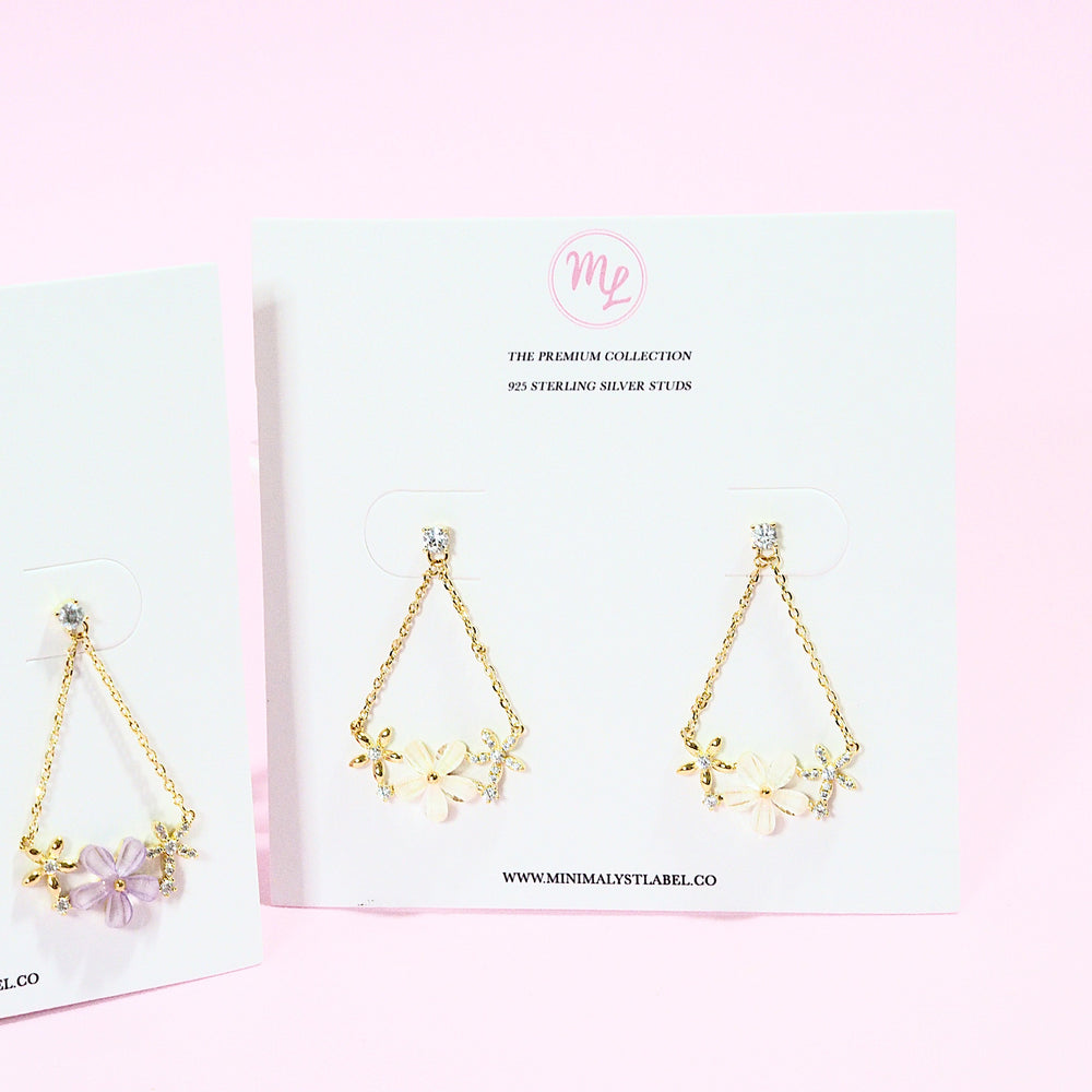Flor Floral Earrings (925 Silver Stud)