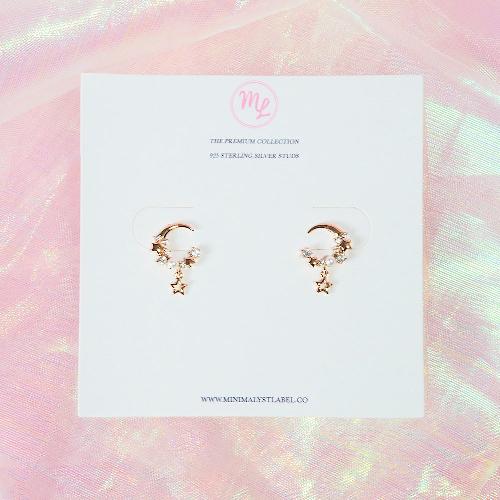 Juliette Crescent Earrings (925 Silver Stud)