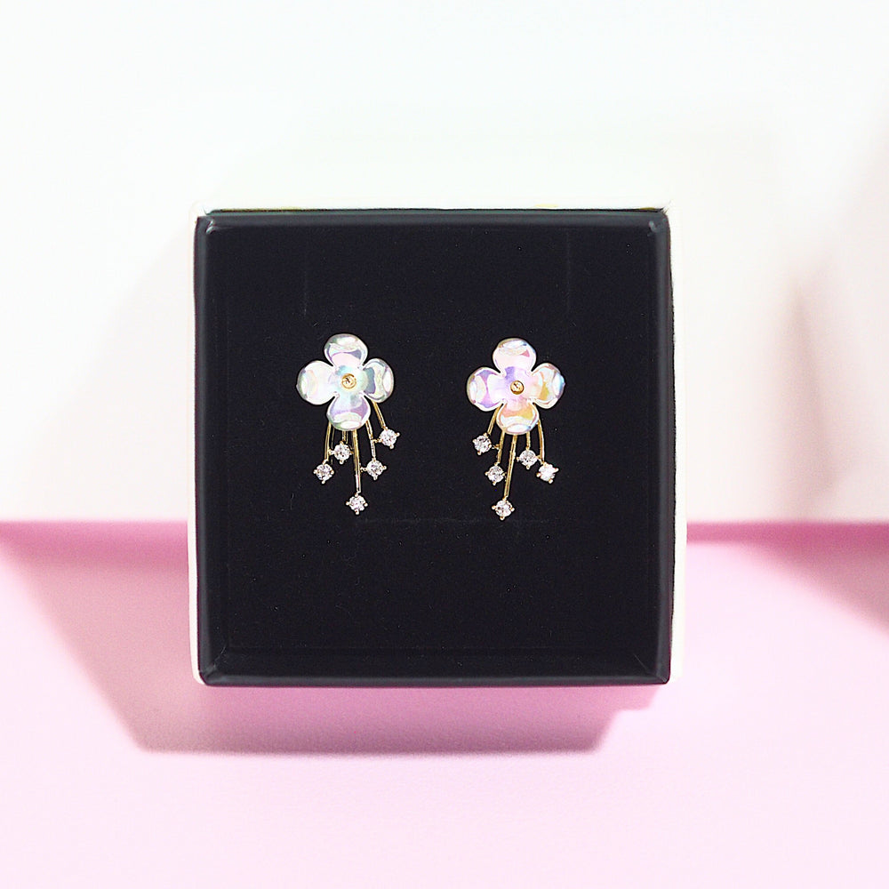 Erica Floral Earrings (925 Silver Stud)