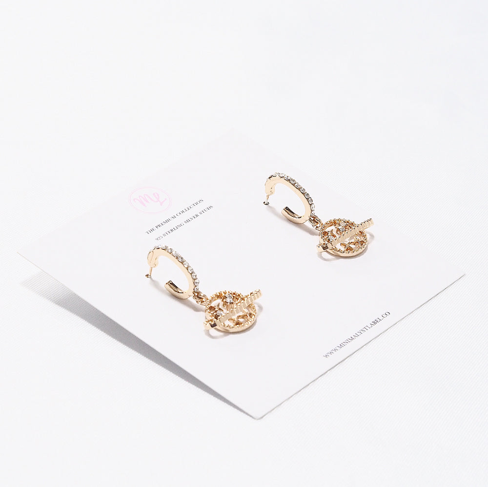 Perabo Planet Earrings (925 Silver Stud)
