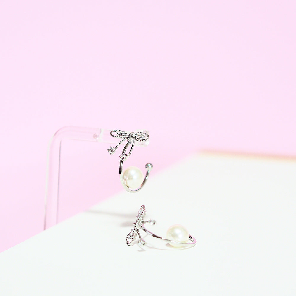 Paizlee Pearl Earrings (925 Silver Stud)