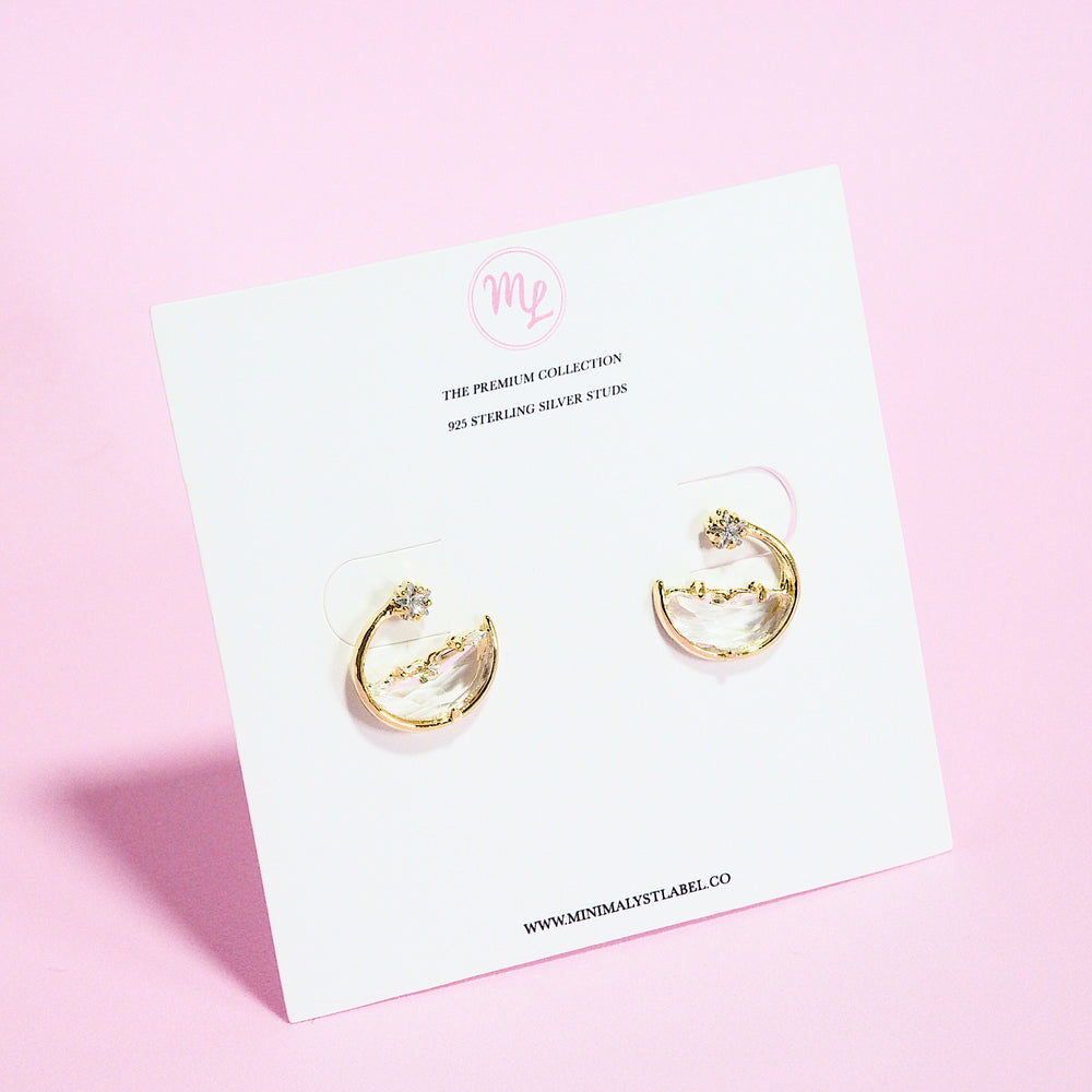 Aerith Waves Earrings (925 Silver Stud)