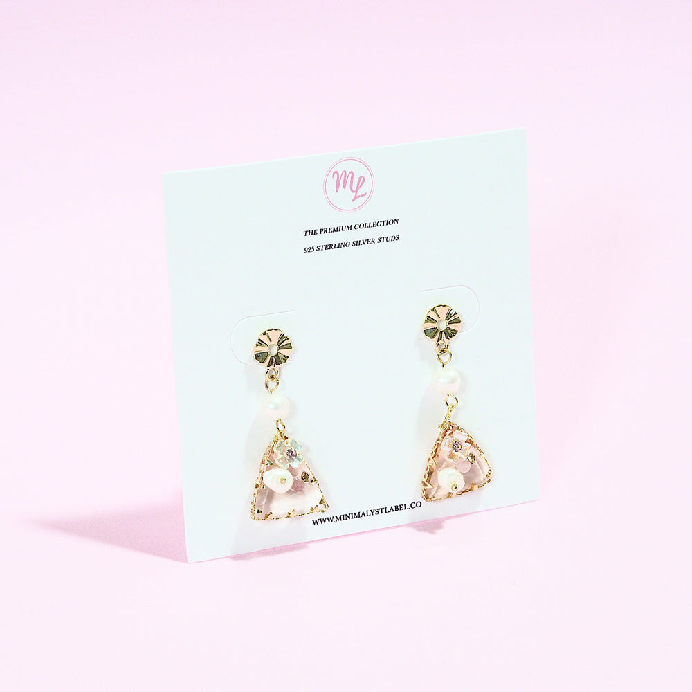 Fiorella Floral Earrings (925 Silver Stud)