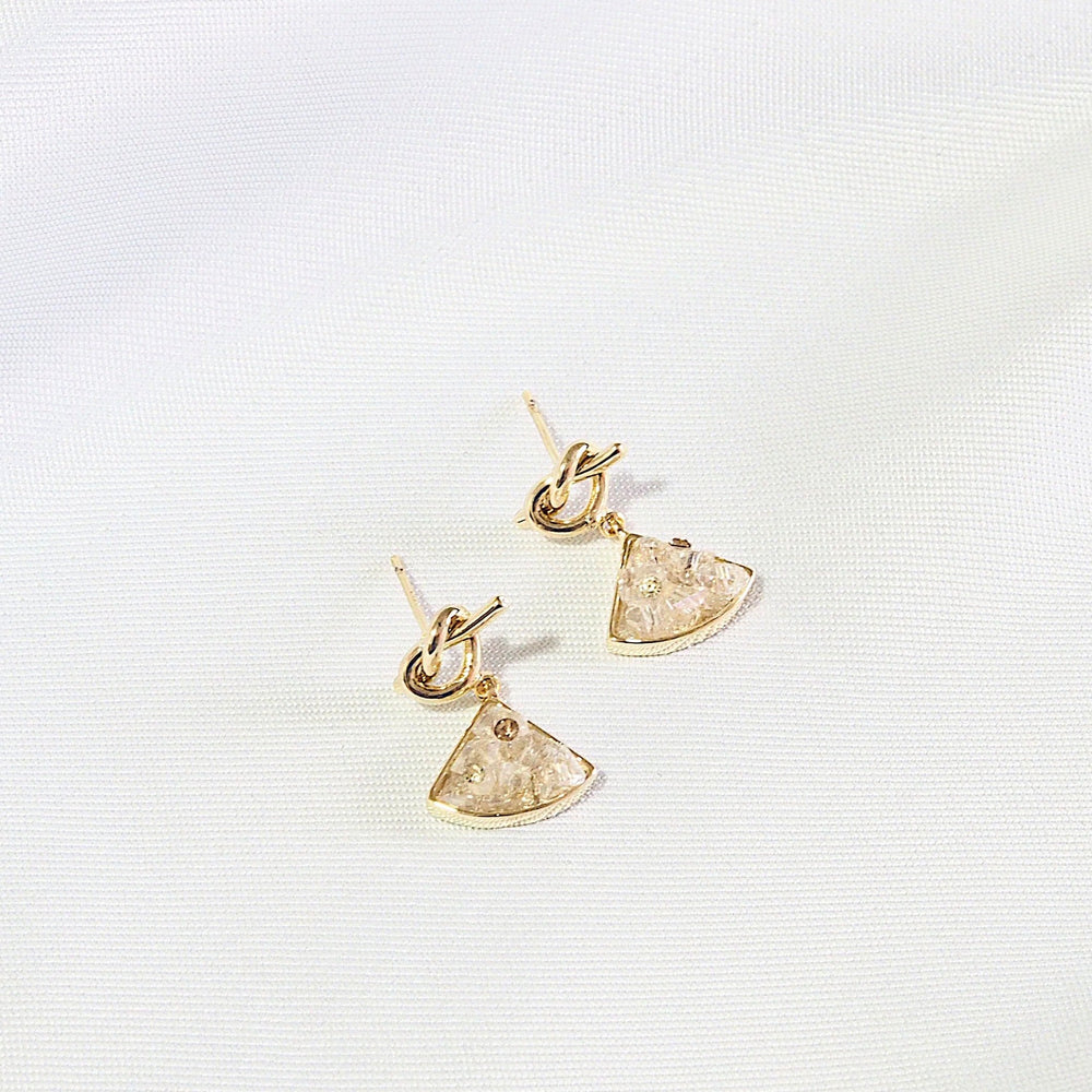 Macey Little Knot Earrings (925 Silver Stud)