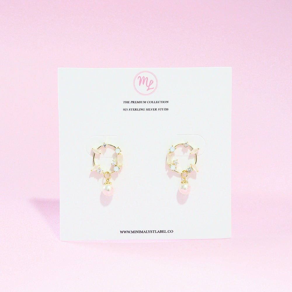 Valerie Pearl Drop Earrings (925 Silver Stud)