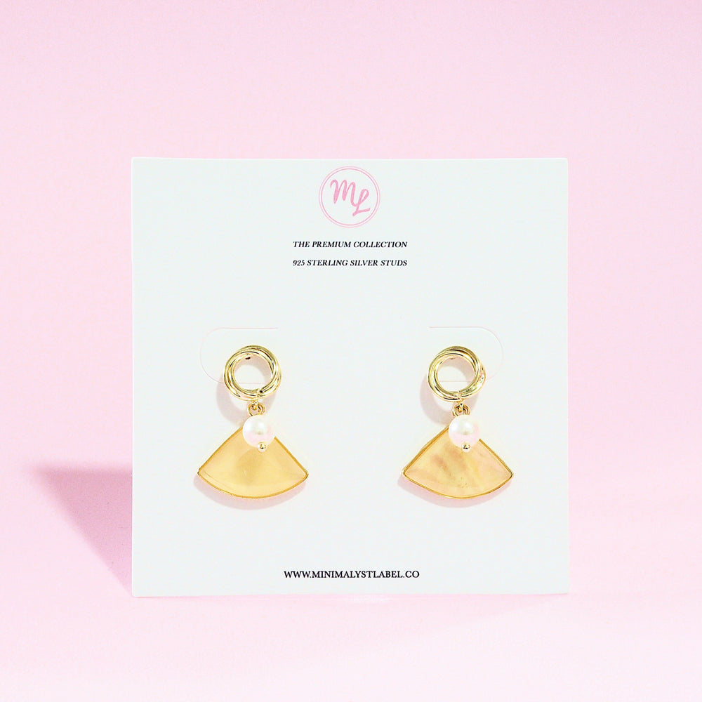 Fann Triangle Earrings (925 Silver Stud)
