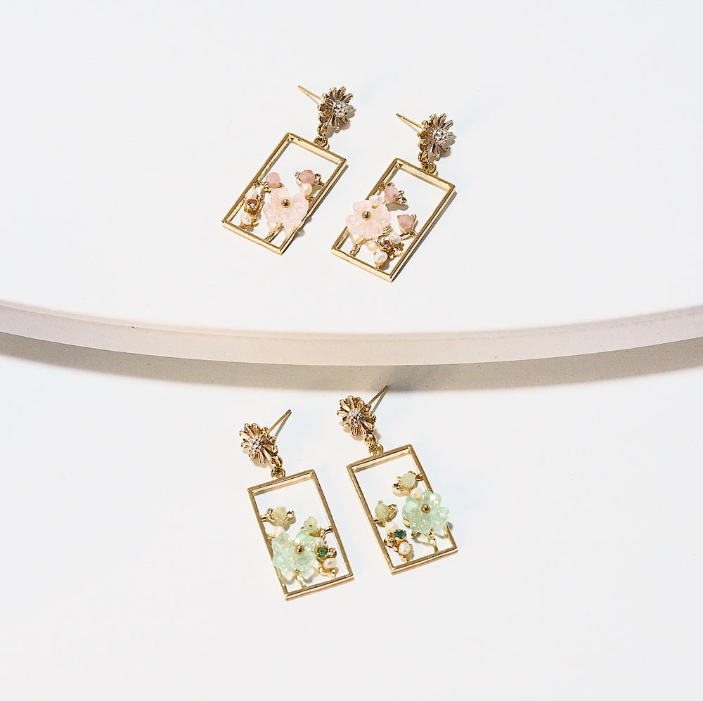 Analicia Floral Earrings (925 Silver Stud)