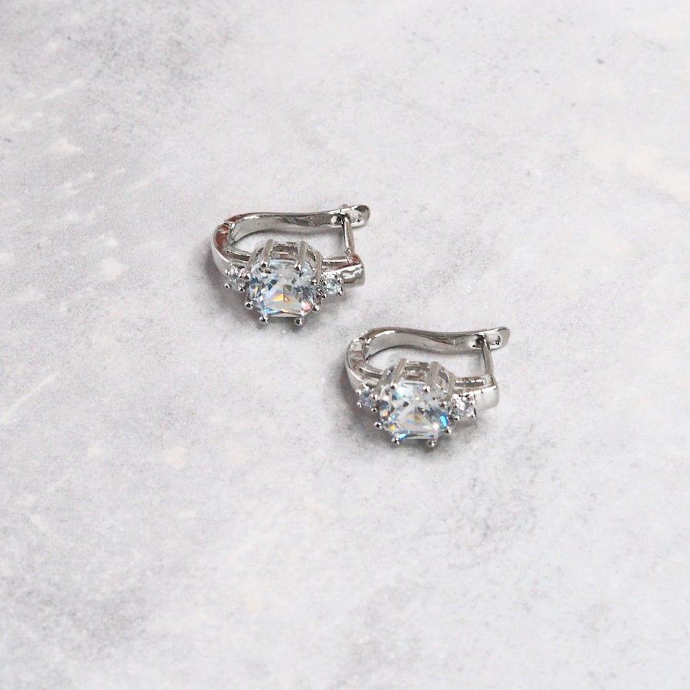 Corly Floral Earrings (925 Silver Stud)