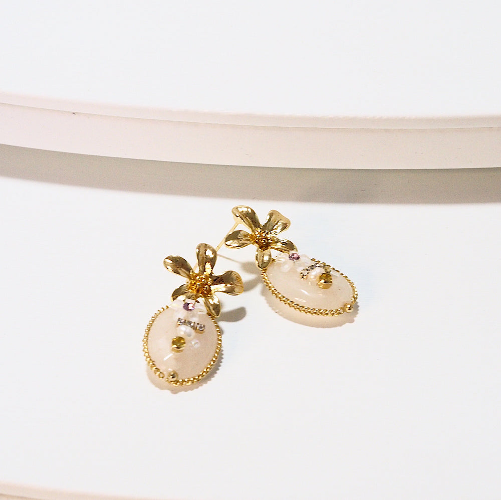 Agasha Floral Earrings (925 Silver Stud)