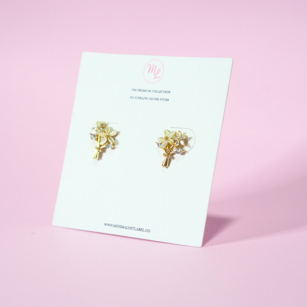 Imo Bouquet Studded Earrings (925 Silver Stud)