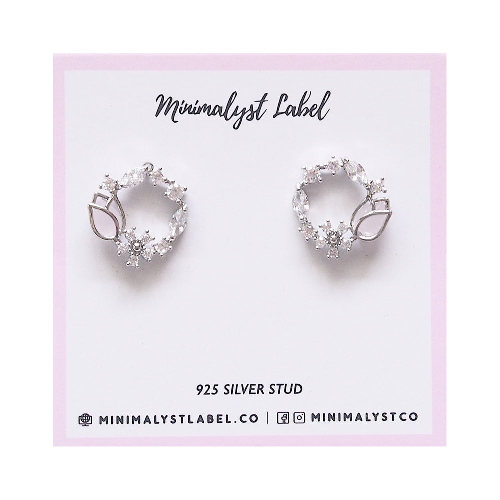 Lory Tulip Studded Earrings (925 Silver Stud)