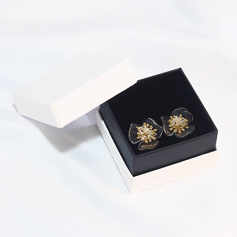 Saffron Floral Studded Earrings (925 Silver Stud)