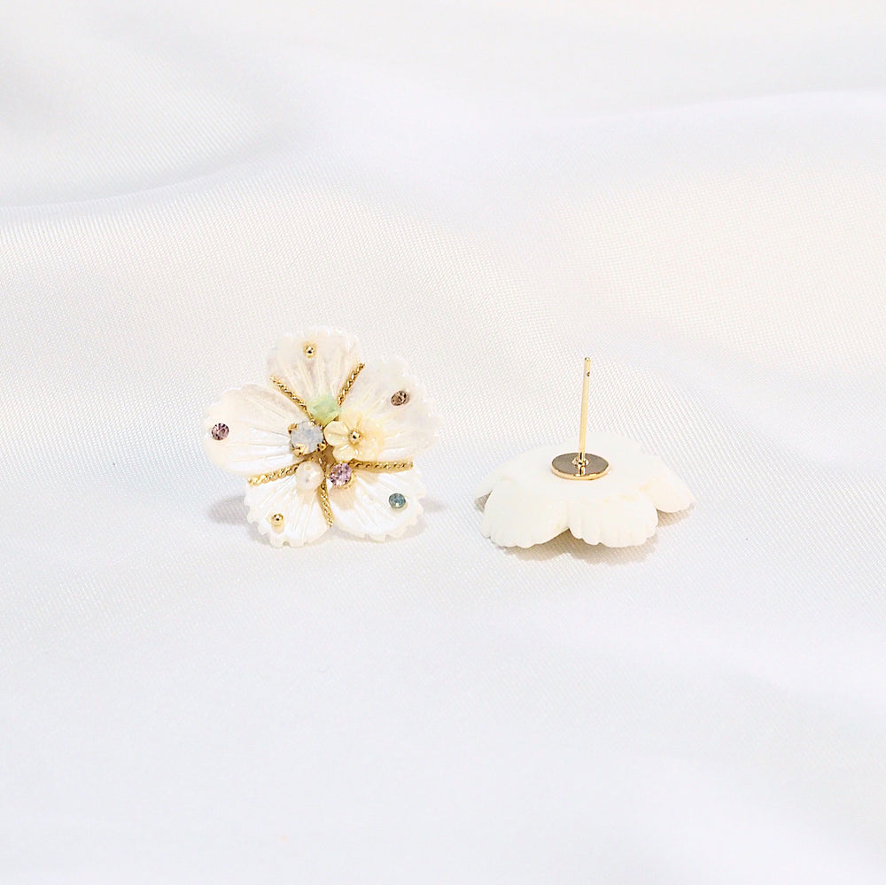 Elos Floral Studded Earrings (925 Silver Stud)