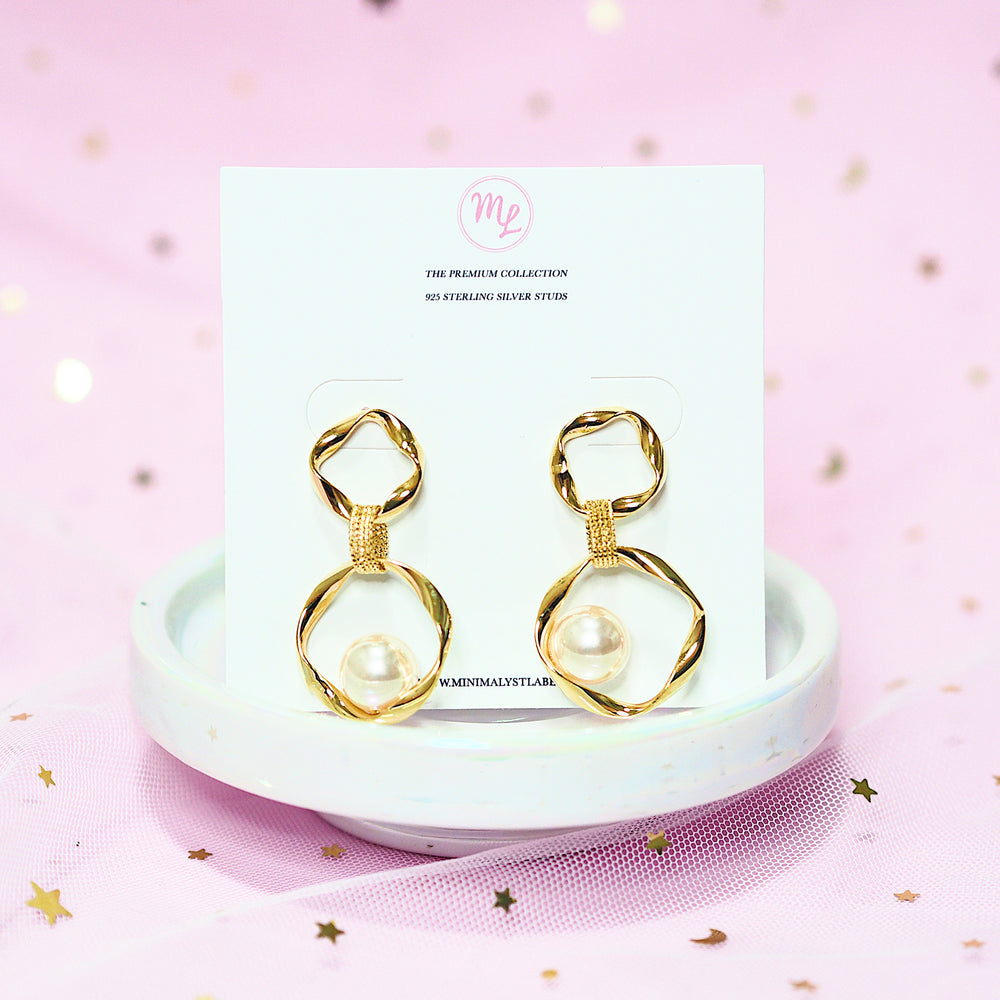 Quinby Pearl Earrings (925 Silver Stud)