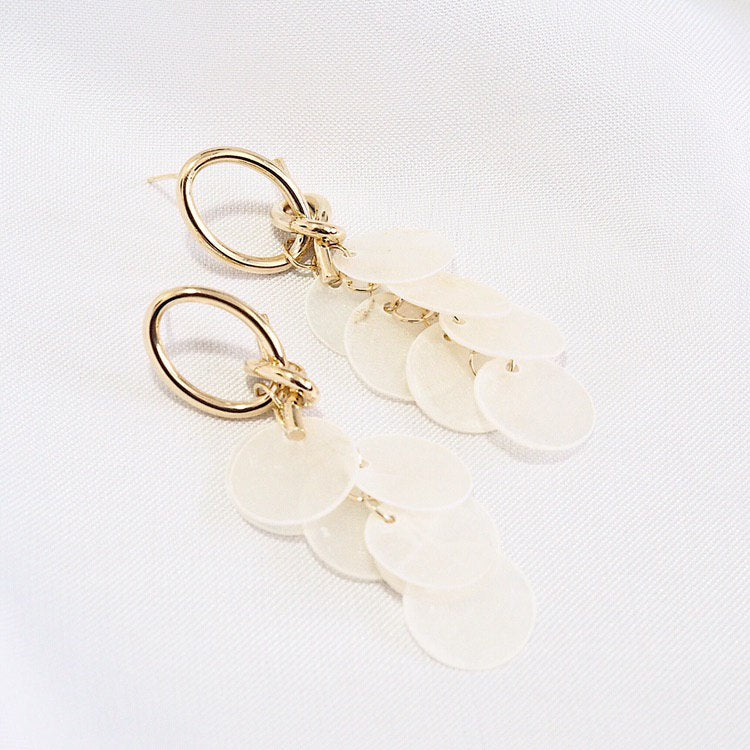 Ula Shell Drop Earrings (925 Silver Stud)